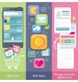 Concept of mobile application store vector