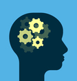 Gears working brain vector