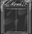 Vintage blackboard for restaurant menu vector