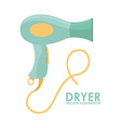 Hair dryer vector