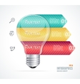 Modern infographics options banner 123 vector