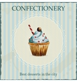 Watercolor confectionery advertisement with vector