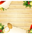 Christmas vintage wooden background vector