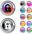 Unlock multicolor round button vector