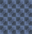 Circle-squares pattern in blue and dark-blue vector