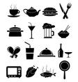 Restaurant food icons set vector