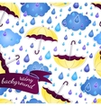 Seamless background with umbrellas and a rain vector