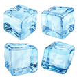 Opaque blue ice cubes vector