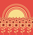 Field of sunflowers background vector