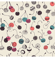Hipster cherry pattern vector