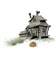 Halloween house color vector