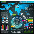 World map design set of infographic elements vector