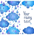 Rainy background for your text vector