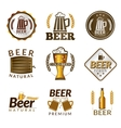 Beer golden emblems vector