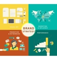 Infographic of brand strategy - four items vector