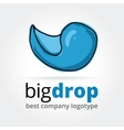 Abstract drop logotype concept isolated on white vector