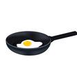 Egg on pan vector