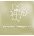 Christmas card gift box with ribbon  eps8 vector
