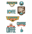Set of 10 coffee and cafe designs vector