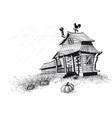 Halloween house black vector