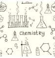 Seamless science background vector