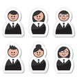Business people icons set - labels vector