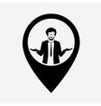 Businessman web pointer icon vector