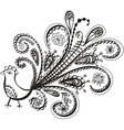 Peacock bird line art vector