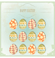 Easter eggs - old postcard vector