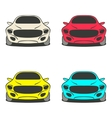Car set four colors vector