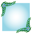 A template with green and blue borders vector
