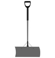 Grey snow shovel vector