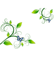 Green floral leaf frame vector