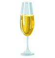 Glass with champagne vector