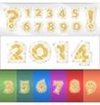 Alphabet golden numbers vector
