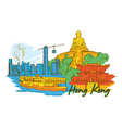 Hong kong doodles vector