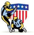 American football graphic vector