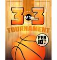 Basketball tournament flyer vector