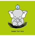 Elephant sitting on the nest vector