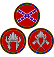 Confederate flag and indian headdress vector