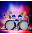 Abstract music dark background with drum kit and vector