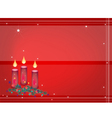Background of christmas candles decoration on fir vector