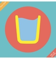 Glass of water icon -  flat vector