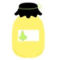 Beautiful stylized jar isolated on white vector