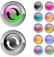 Refresh multicolor round button vector