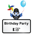 Sign birthday party vector