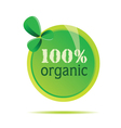 Organic 100 precent sign vector