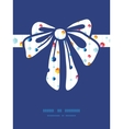Abstract hanging jewels striped gift bow vector