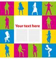 Dancing people background vector