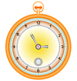 Gold pocket watch vector